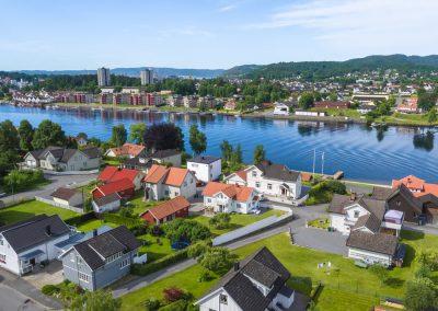 Drone av bolig i Porsgrunn